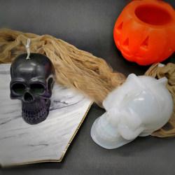 diy handgjord skalle ljusform 3d skalle silikonform för ljus