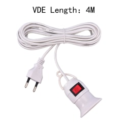 E27 Lampbaserad sladd till UL \ VDE Plug Adapter Adapter Converter ON / Round plug