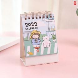 handritning 2022 skrivbordspapper kalender dubbla dagliga schemaläggare ta B