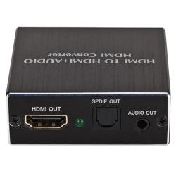 HDMI till HDMI SPDIF 4K Optisk Toslink Stereo Audio Splitter Con Black