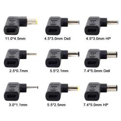 Laptop-laddare adapteromvandlare USB typ C kvinnlig likström jac For Asus