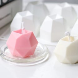 multilateral diamant kub ljus diy silikon form handgjord arom one size