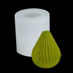 päronformat ljus silikonform randigt konljus DIY ljus m