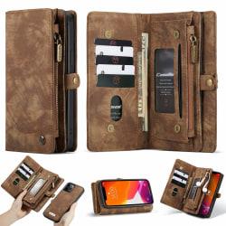 iPhone 12/12 Pro CaseMe Plånbok Magnet splittläder  Coffee Brun