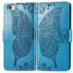 iPhone SE (2020) Plånbok Fjäril Blå Blå