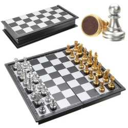 Resespel Schack Magnet Svart