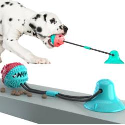 Multifunktionell hund katt säker elastisk rengöring tänder boll