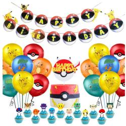 Pikachu Pokémon Pokemon Barnkalas Ballongbåge Happy Birthday