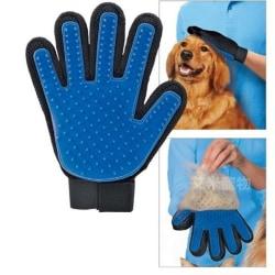 2st Borsthandske - en smart kam för hundhår och katthår Blå