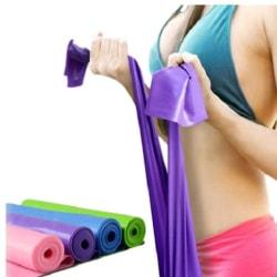 Träningsband-Gummiband för stretching och mångsidig Lila