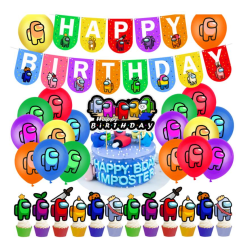 Among Us Barnkalas Ballongbåge - Happy Birthday party