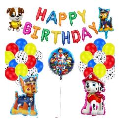 Barnkalas Ballongbåge Paw Patrol - Happy Birthday