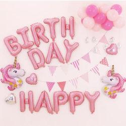 Barnkalas Ballongbåge  Unicorn- Happy Birthday