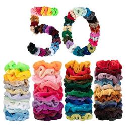 50st hair Scrunchies, hårsnoddar hårband , Hair bands MultiColor