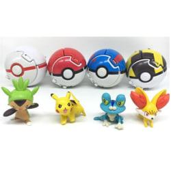 Pokémon  Action Anime Figures Balls- Innehåll Pikachu