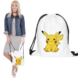 Pokemon Pikachu Gympapåse Ryggsäckar Gymnastikpåse Axelrämmar