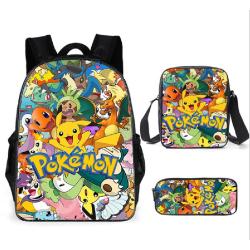 Pokémon Pokemon Pikachu Ryggsäck+ Axelremsväska + Pennskrin