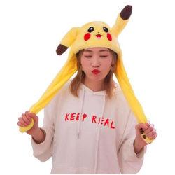 Rolig plysch Pikachu hatt, öronrörelsehoppa, Cosplaydräkter