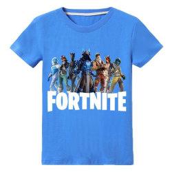 T Shirt med Fortnite Tryck Blå Fäger Storlekar 130-150 för Barn Blue Blå 150