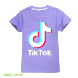 Tik Tok T- Shirt Kortärmad -Lilla  Storlek 150
