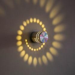 Spiralhål Vägglampa LED-ljus Armaturlampa silver SilverGrey
