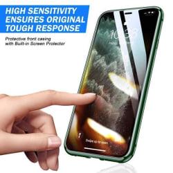 Doubel magnet fodral för iphone 11 pro max Green