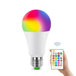 2 st E12 RGB LED-lampa 16 Färg flerfärgad