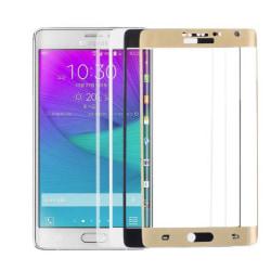 HELTÄCKAND  för  Samsung GALAXY S6 Edge guld Transparent