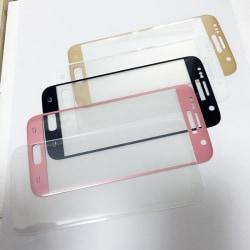 PREMIUM färgade skärmskydd för samsung s7 transparent Transparent