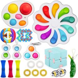 19 st Fidget Toys Set för barn och vuxna