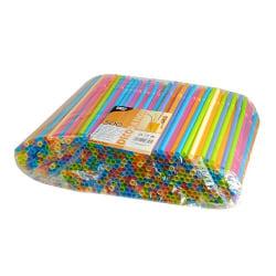 200-pack - sugrör flerfärgade - flexibla 500