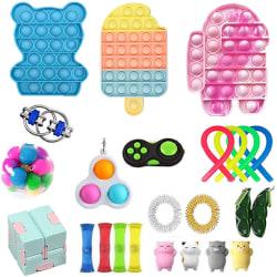 24st Fidget Toys Pack Sensory Pop it Stress Ball Party Present 24pc