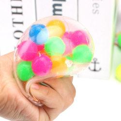 2 Fidget sensoriska fidget leksaker Pressa bollen multicolor