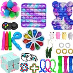 30-pack Fidget Toy Set Pop IT sensorisk leksak för barn vuxna 30-1pc