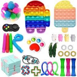 30Pack Fidget Toy Set Pop IT sensorisk leksak för barn vuxna 30 pc
