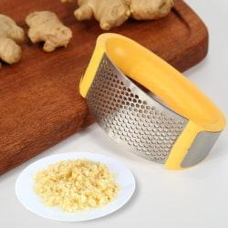 4 färger rostfritt stål vitlök press slipning kök Gadget Yellow