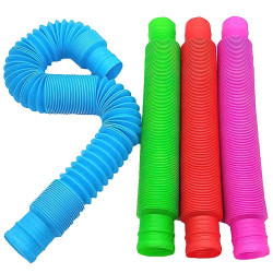 4-Pack Tube Fidget Toys - Leksak / Sensory multicolor