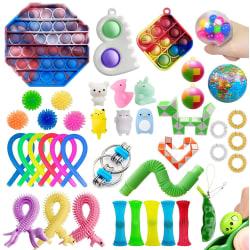 42 Fidget Toys Sensual Bag Nyckelring Populära leksaker 42 pc