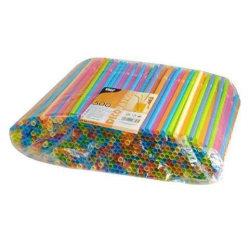 500-pack - sugrör flerfärgade - flexibla