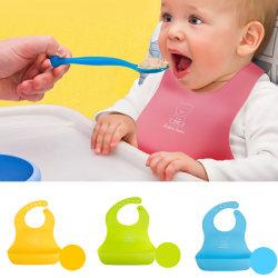 Baby Haklappar Vattentät Nyfödd Bib Pocket Risficka Pink