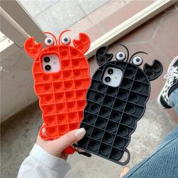 Fidget leksaker skyddande skal krabba form för iPhone 11 ProMax