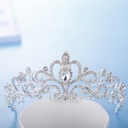 Princess Bridal Crystal Wedding Hair Tiara Rhinestone Crown one size