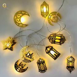 Ramadan Led String Lights EID Mubarak Decor Islam Musli