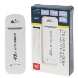 Låst 4G LTE USB-modem Mobile Wireless Router Wifi Hotspot L. White