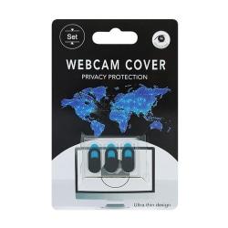 3 X Skydd för webbkamera webcam cover Svart one size Akryl