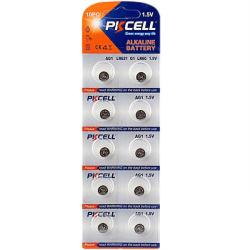 Batteri 364 AG1  lr621sw  10-pack PKcell Aluminium