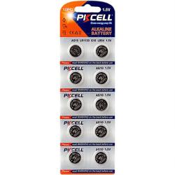 Batteri AG10 / LR1130 / LR54 / 189 / 10-pack PKcell Aluminium