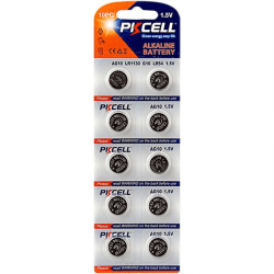 Batteri AG10 / LR1130 / LR54 / 189 / 20-pack PKcell (2x10-pack) Aluminium