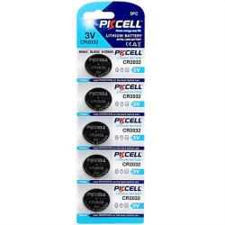Batteri CR2032 5-pack PKcell Aluminium