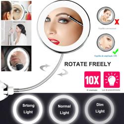 10x Magnifying LED Mirror 360 Rotatable Flexible Gooseneck Light 10X